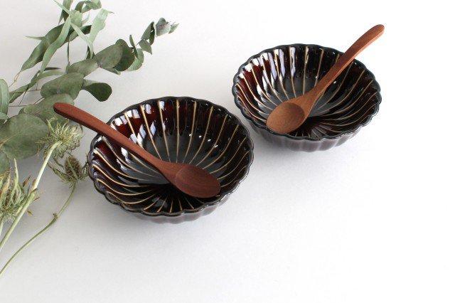 美濃焼 ぎやまん4寸鉢 漆(茶) 磁器 画像5