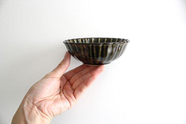 美濃焼 ぎやまん4寸鉢 利休(緑) 磁器 画像5