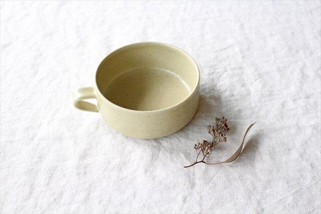 スープカップ 黄瀬戸釉RF 半磁器 こいずみみゆき