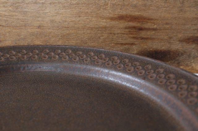 ブラウンプレート L 陶器 中野明彦 画像5