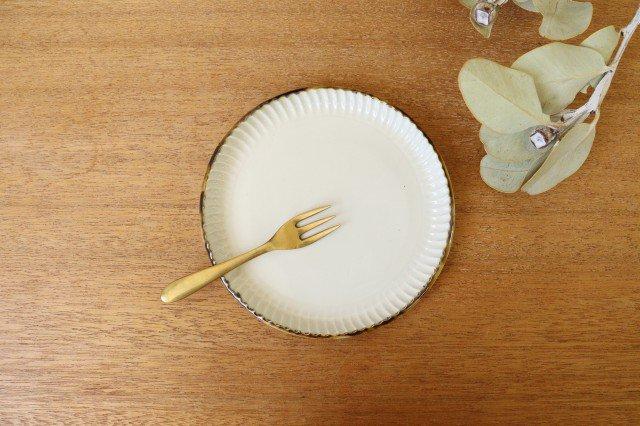 丸平皿 M ホワイト 半磁器 アトリエキウト 小出麻紀子 画像5