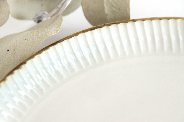 丸平皿 M ホワイト 半磁器 アトリエキウト 小出麻紀子 画像6
