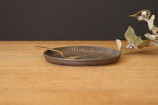 丸平皿 M GB 半磁器 アトリエキウト 小出麻紀子 画像2