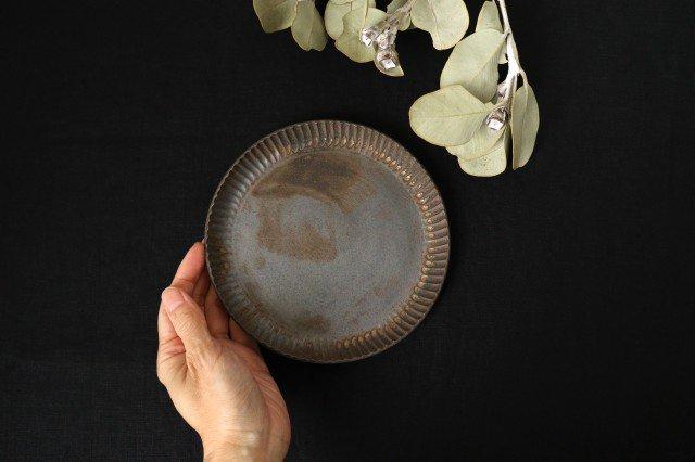 丸平皿 M GB 半磁器 アトリエキウト 小出麻紀子 画像3