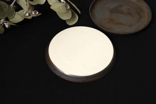 丸平皿 M GB 半磁器 アトリエキウト 小出麻紀子 画像5