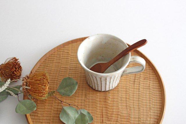 美濃焼 粉引削りマグカップ 陶器 画像2