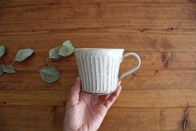 美濃焼 粉引削りマグカップ 陶器 画像4