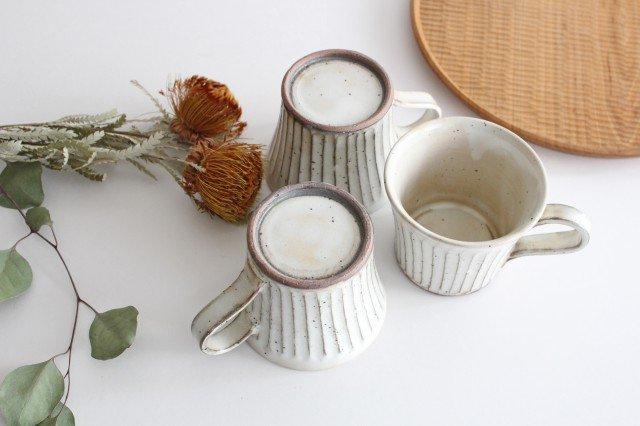 美濃焼 粉引削りマグカップ 陶器 画像5