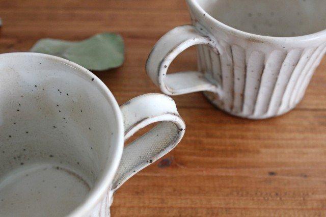 美濃焼 粉引削りマグカップ 陶器 画像6