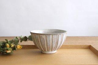 美濃焼 粉引細削ぎ 飯碗 陶器商品画像