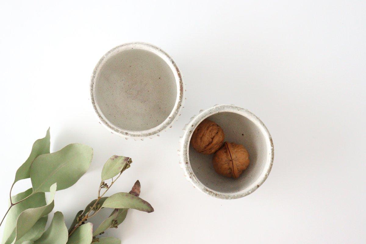 美濃焼 粉引細削ぎ 丸湯のみ 陶器 画像2