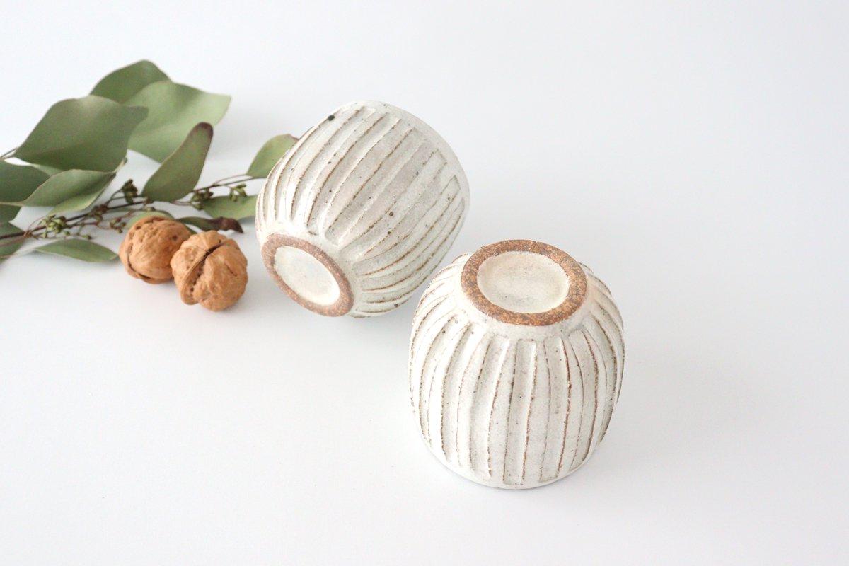 美濃焼 粉引細削ぎ 丸湯のみ 陶器 画像3