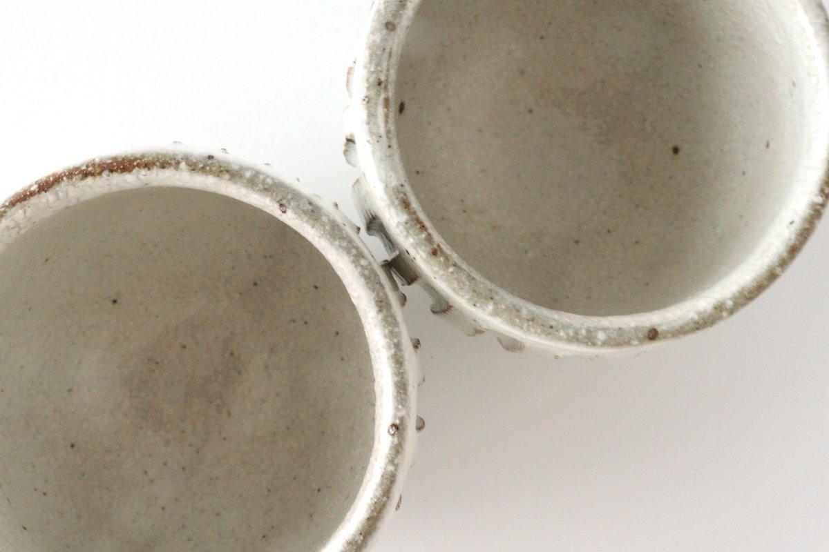 美濃焼 粉引細削ぎ 丸湯のみ 陶器 画像4
