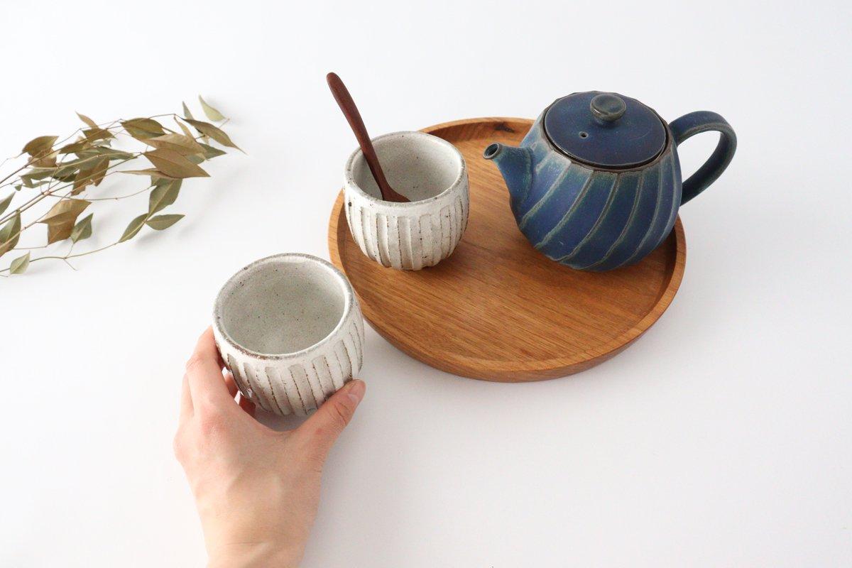美濃焼 粉引細削ぎ 丸湯のみ 陶器 画像6