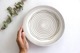 8寸皿 トビカンナ櫛目 陶器 福嶋製陶 小石原焼商品画像