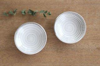 小石原焼 豆皿 トビカンナ 白 陶器 福嶋製陶商品画像