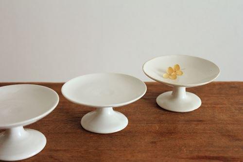 プチコンポート(しろ)【低い】 wakako ceramics