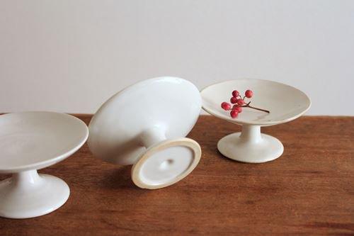 プチコンポート(しろ)【低い】 wakako ceramics 画像3