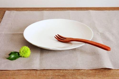 まんげつプレート 18cm しろ ふち無し wakako ceramics商品画像