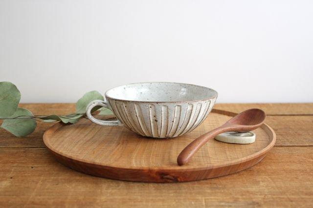 美濃焼 粉引細削ぎ スープカップ 陶器