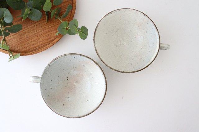 美濃焼 粉引細削ぎ スープカップ 陶器 画像4