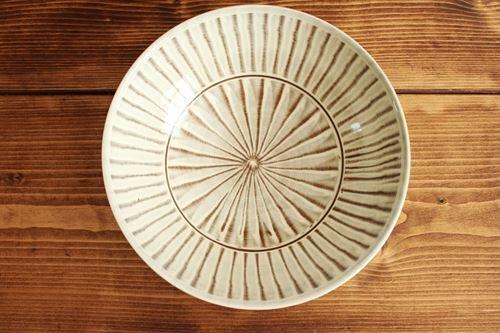 【一点もの】小石原焼 ハケメ大鉢フラシ 陶器 ヤマイチ窯