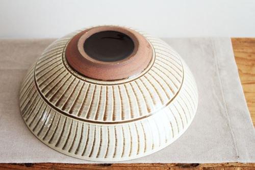 【一点もの】小石原焼 ハケメ大鉢フラシ 陶器 ヤマイチ窯 画像3