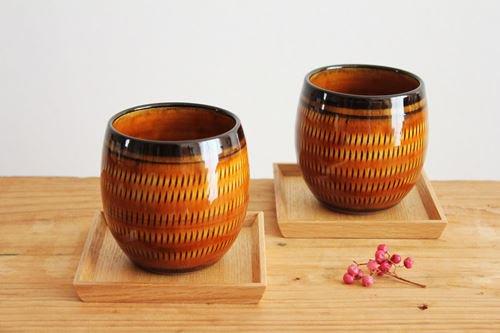 小石原焼 トビカンナカップアメ 陶器 ヤマイチ窯商品画像