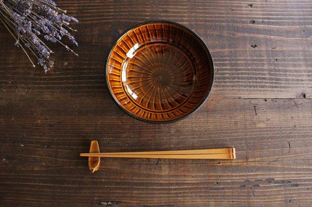 小石原焼 ハケメサラダボウル 飴釉 陶器 ヤマイチ窯 画像5