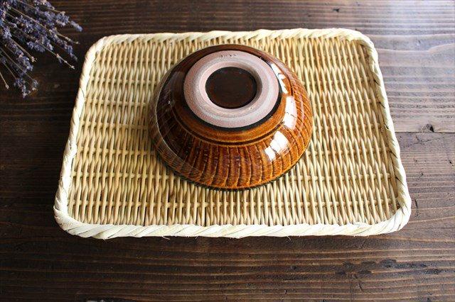 小石原焼 ハケメサラダボウル 飴釉 陶器 ヤマイチ窯 画像6