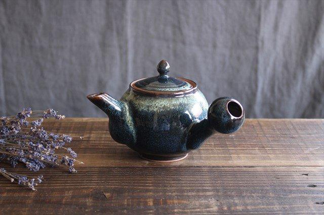 小石原焼 ナマコ釉急須 陶器 ヤマイチ窯