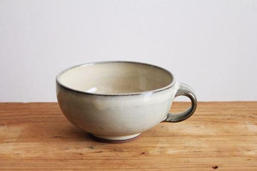 小石原焼 スープカップ 白 陶器 ヤマイチ窯商品画像