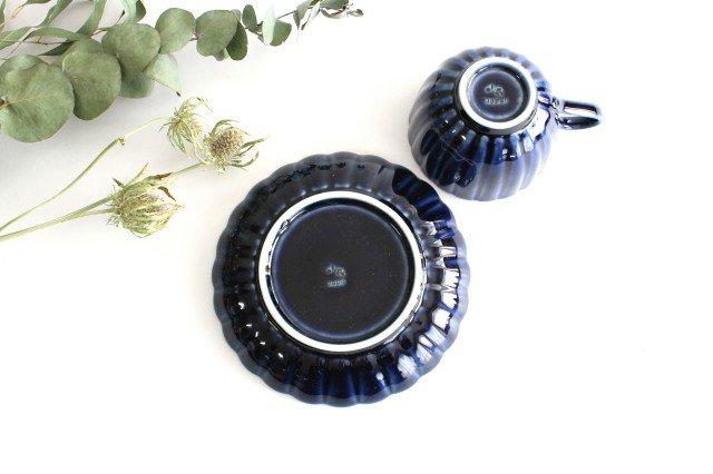 美濃焼 ぎやまんカップ&ソーサー 茄子紺(青) 磁器 画像3