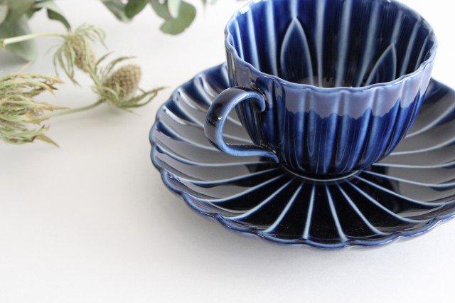 美濃焼 ぎやまんカップ&ソーサー 茄子紺(青) 磁器 画像4