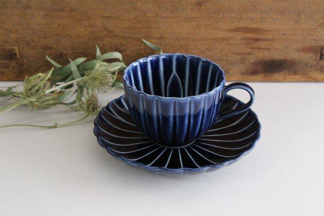 美濃焼 ぎやまんカップ&ソーサー 茄子紺(青) 磁器 画像5