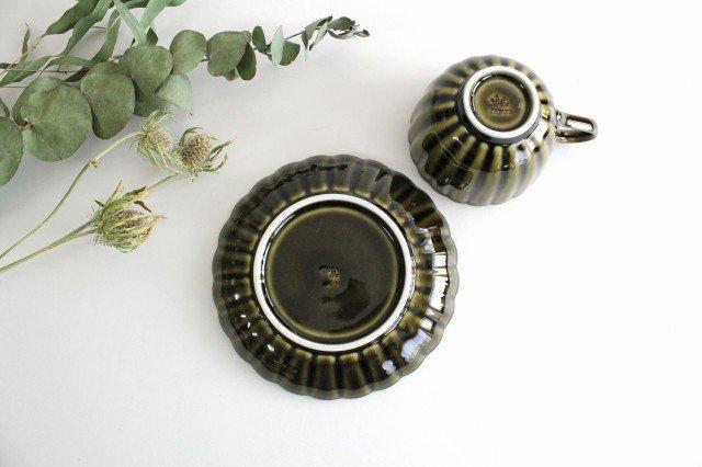 美濃焼 ぎやまんカップ&ソーサー 利休(緑) 磁器 画像5