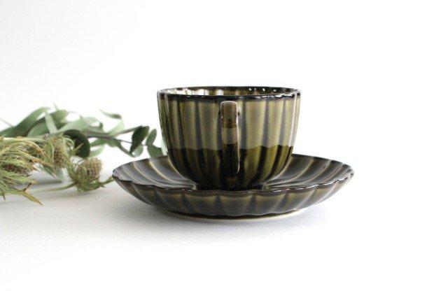 美濃焼 ぎやまんカップ&ソーサー 利休(緑) 磁器 画像6