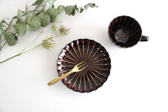 美濃焼 ぎやまんカップ&ソーサー 漆(茶) 磁器 画像4