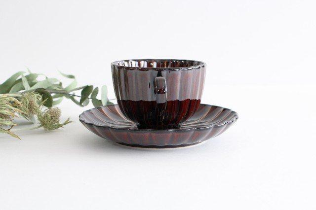 美濃焼 ぎやまんカップ&ソーサー 漆(茶) 磁器 画像5