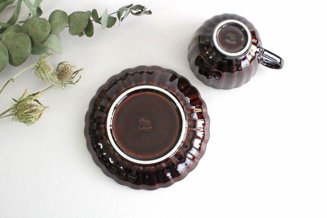 美濃焼 ぎやまんカップ&ソーサー 漆(茶) 磁器 画像6