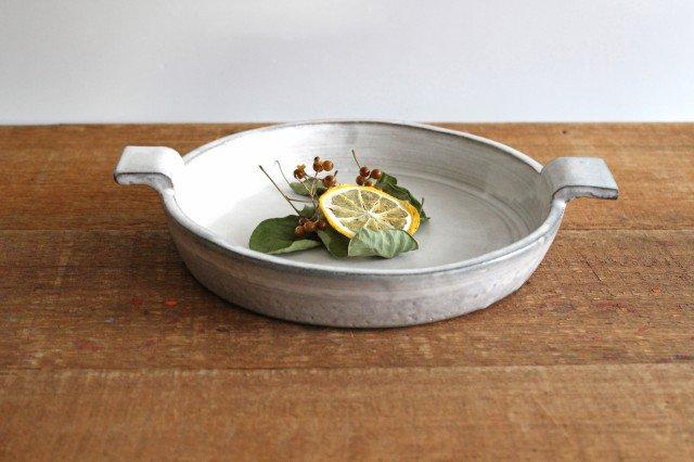 オーブンプレート 白 耐熱陶器 萬古焼 画像2