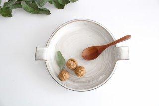 《耐熱陶器》萬古焼 オーブンプレート 白 商品画像