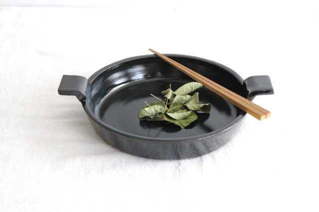 《耐熱陶器》萬古焼 オーブンプレート 黒  画像4