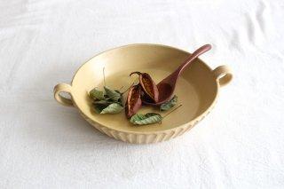 《耐熱陶器》萬古焼 直火できる食器 両手付プレート 茶 商品画像