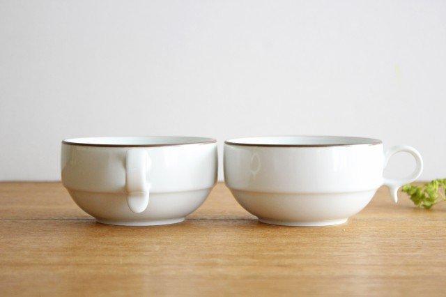 白山陶器 S型スープボウル 白マット 磁器 波佐見焼 画像3