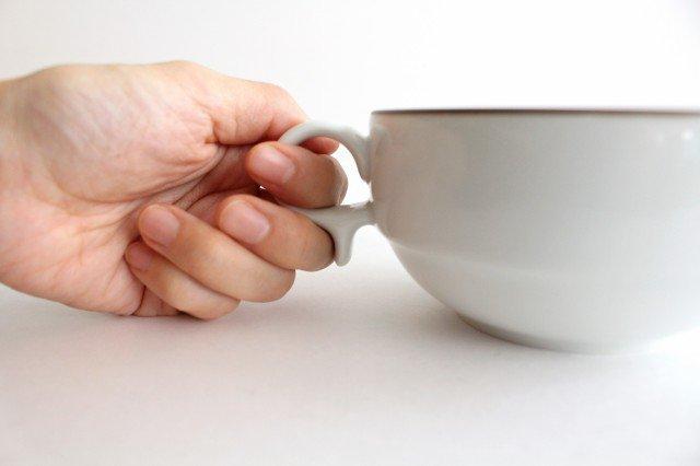 白山陶器 S型スープボウル 白マット 磁器 波佐見焼 画像5
