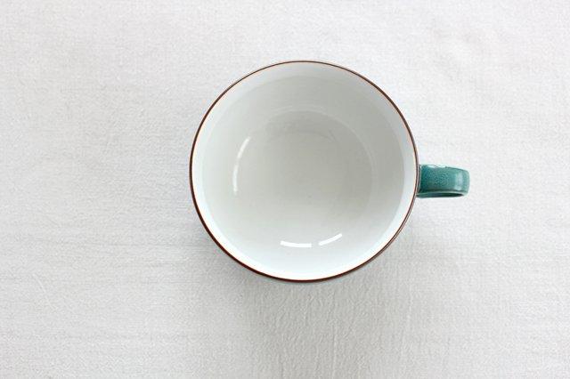 白山陶器 S型スープボウル グリーンマット 磁器 波佐見焼 画像2