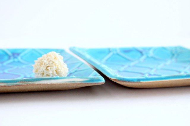 正角皿 ターコイズ 陶器 一翠窯 画像5