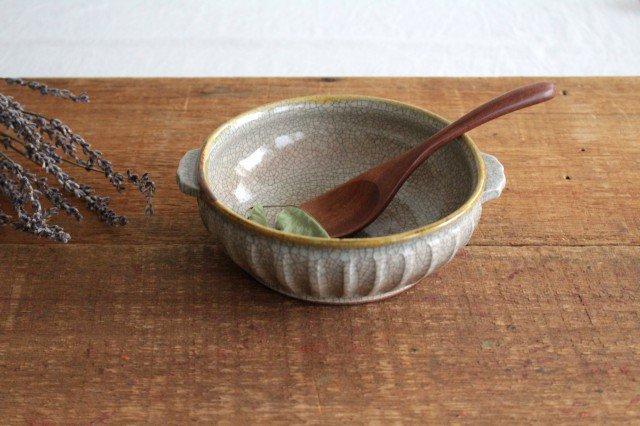 耳付鉢 墨入貫入 陶器 はなクラフト