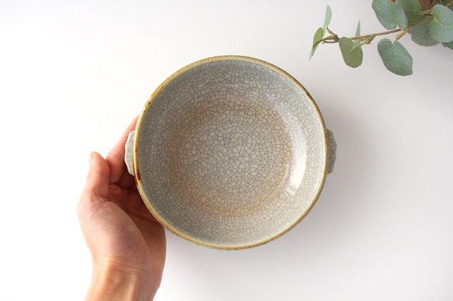 耳付鉢 墨入貫入 陶器 はなクラフト 画像2